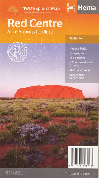 Red Centre Hema Map