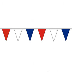 Pennant Bunting Red, White & Blue - Vinyl - 100m