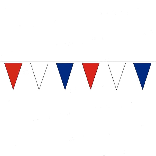 Pennant Bunting Red, White & Blue - Vinyl - 25m