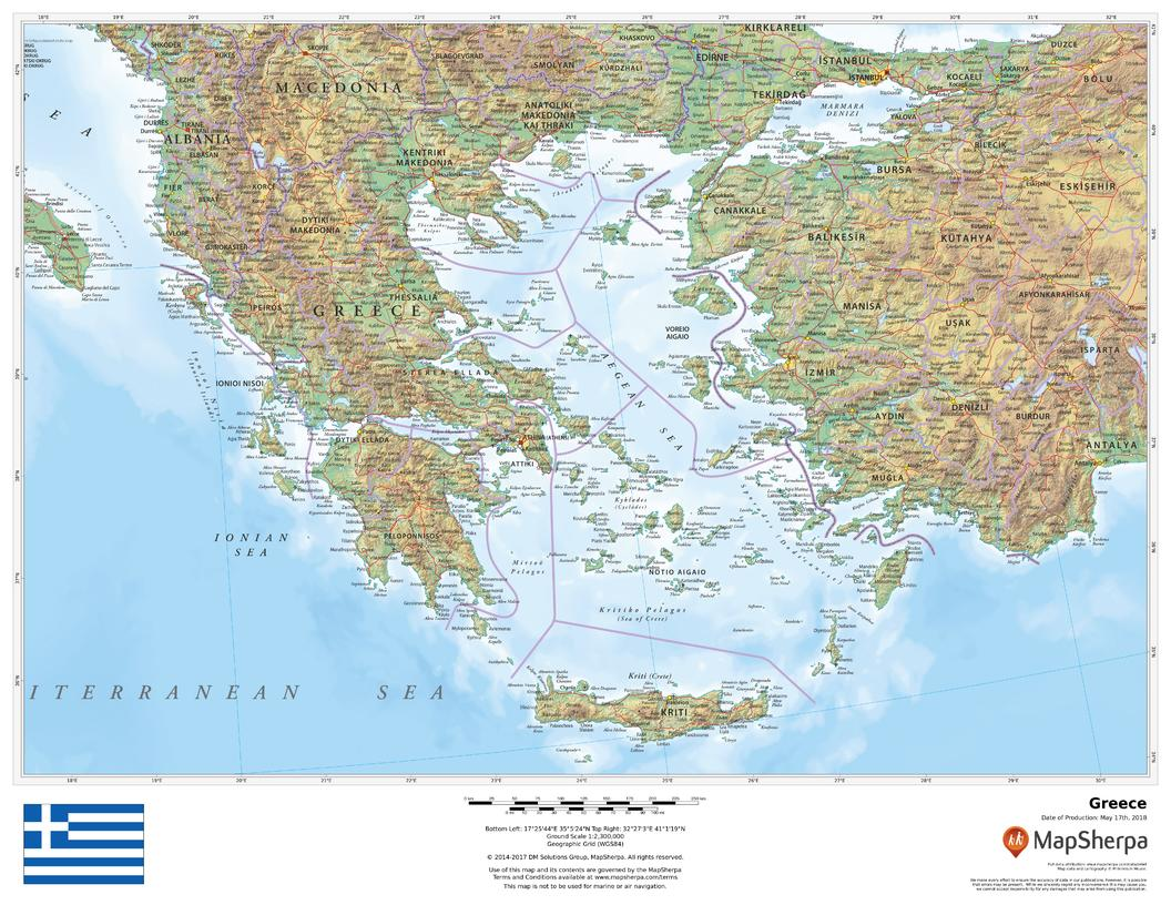 Picture of: Greece Wall Map Buy Wall Map Of Greece Shop Mapworld