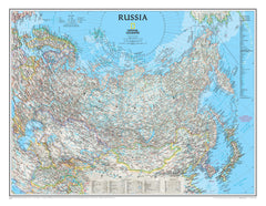 Russia National Geographic 770 x 600mm Wall Map