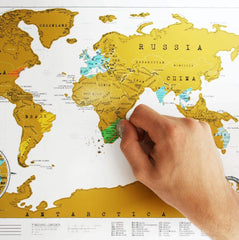 World Original Scratch Map Large Edition 825 x 594mm