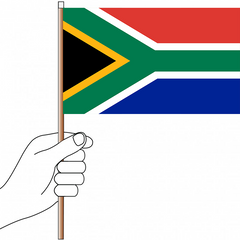 South Africa Flag Handwaver - Knitted Polyester