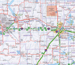 South Central Hallwag USA Map