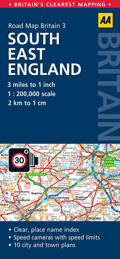 Map Of England 200.South East England Aa Road Map 3