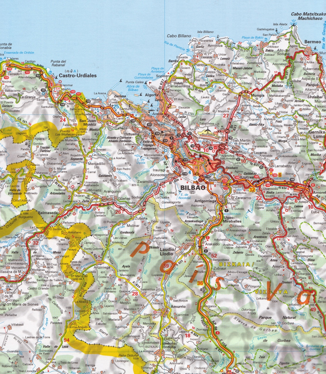 Basque Map Of Spain.Spain North Basque Country Navarra Rioja Michelin Map 573