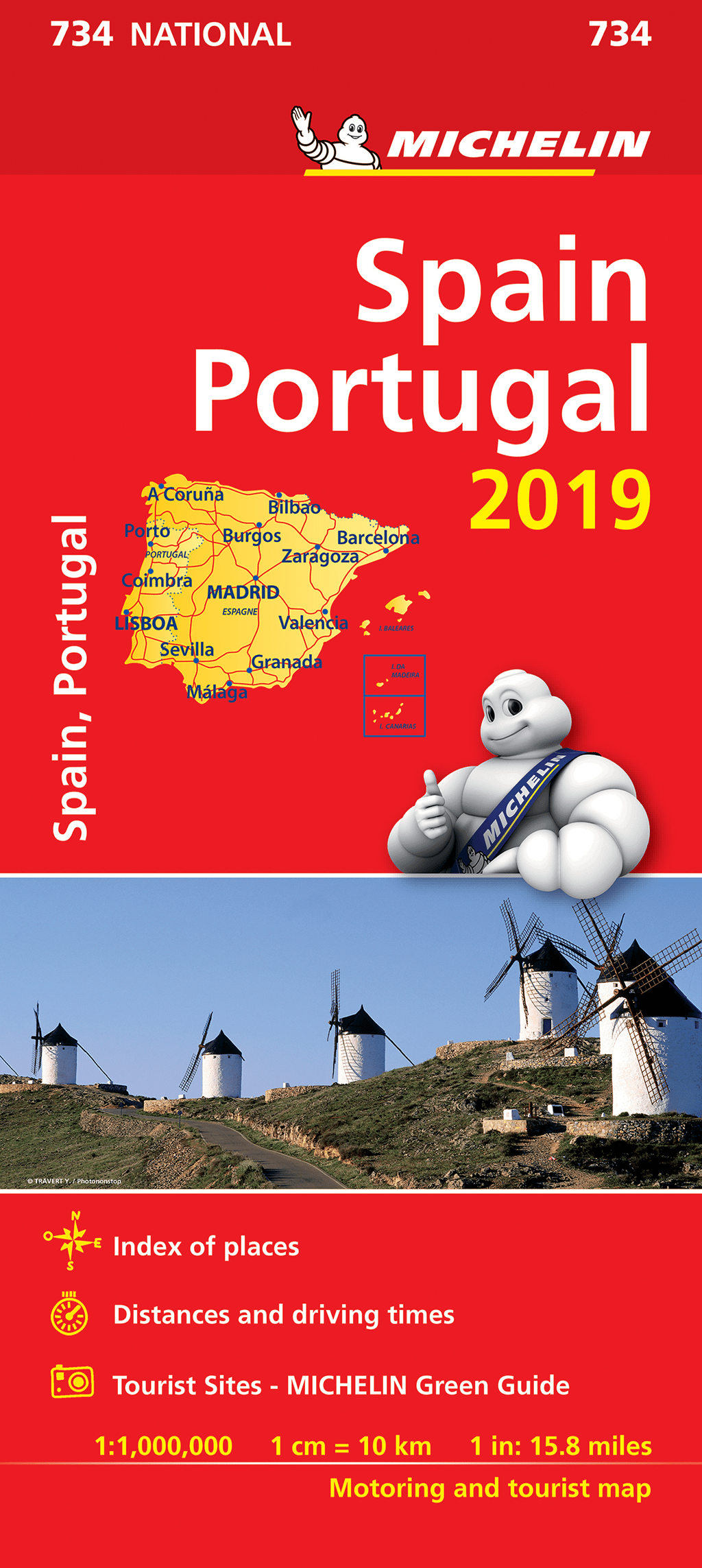 Map Of Spain Portugal.Spain Portugal Michelin Map 734