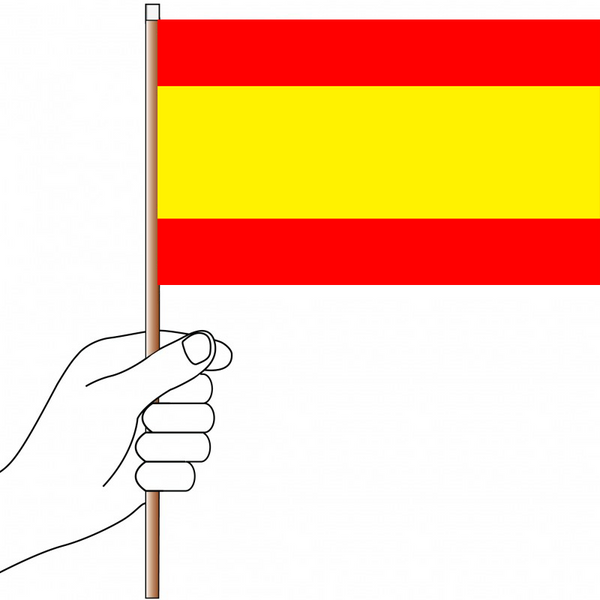 Spain Flag Handwaver - Knitted Polyester