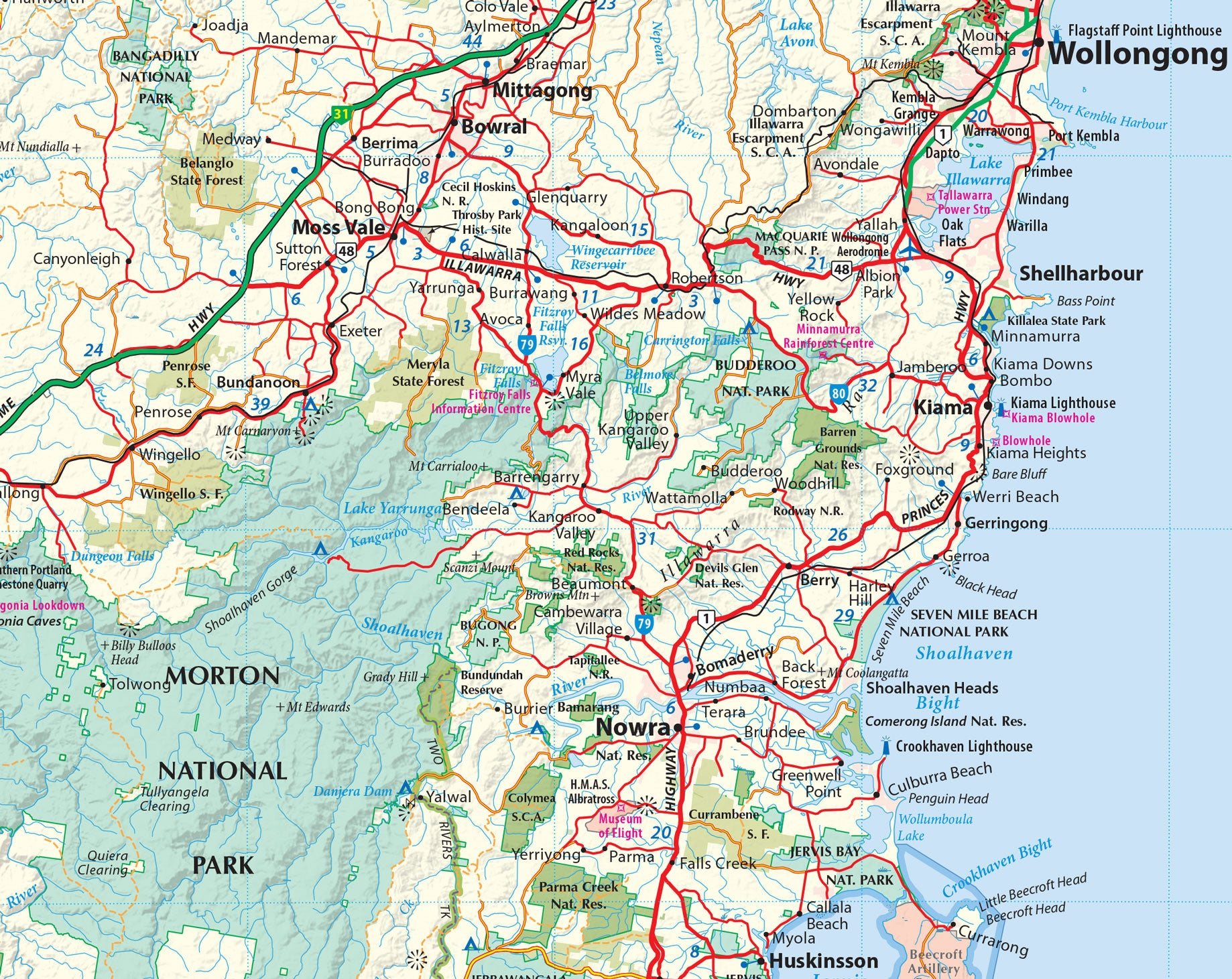 Sydney Adventures 4WD map buy 4WD map for Sydney Mapworld