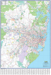Sydney Business Map UBD 1480 x 1980mm Laminated Wall Map