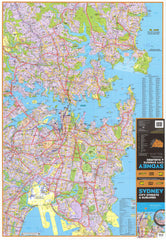 Sydney UBD 262 Map 1020 x 1480mm Laminated Wall Map with Hang Rails