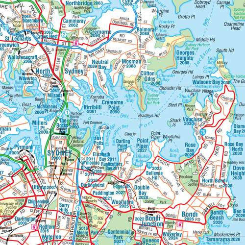 Greater Sydney Hema Laminated Map Buy Map of Sydney Mapworld