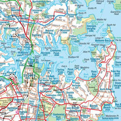 Sydney & Region Hema 1000 x 1400mm Supermap Laminated Wall Map with Free Map Dots