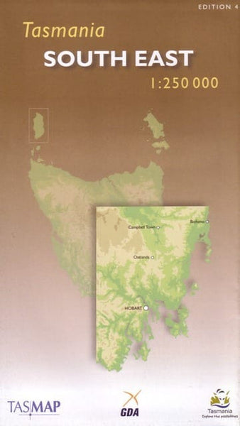 Tasmania South East Tasmap Map