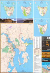 Tasmania UBD Map 690 x 1000mm Laminated Wall Map