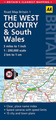The West Country & South Wales AA Road Map 1