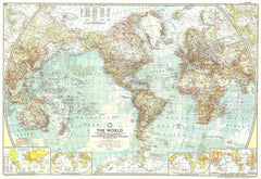 World Map 1957 by National Geographic