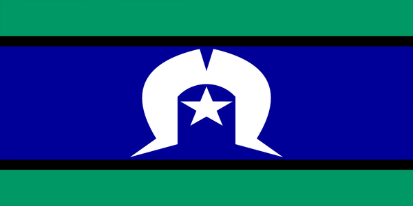 Torres Strait Islander Flag with Sleeve (knitted) 1370 x 685mm