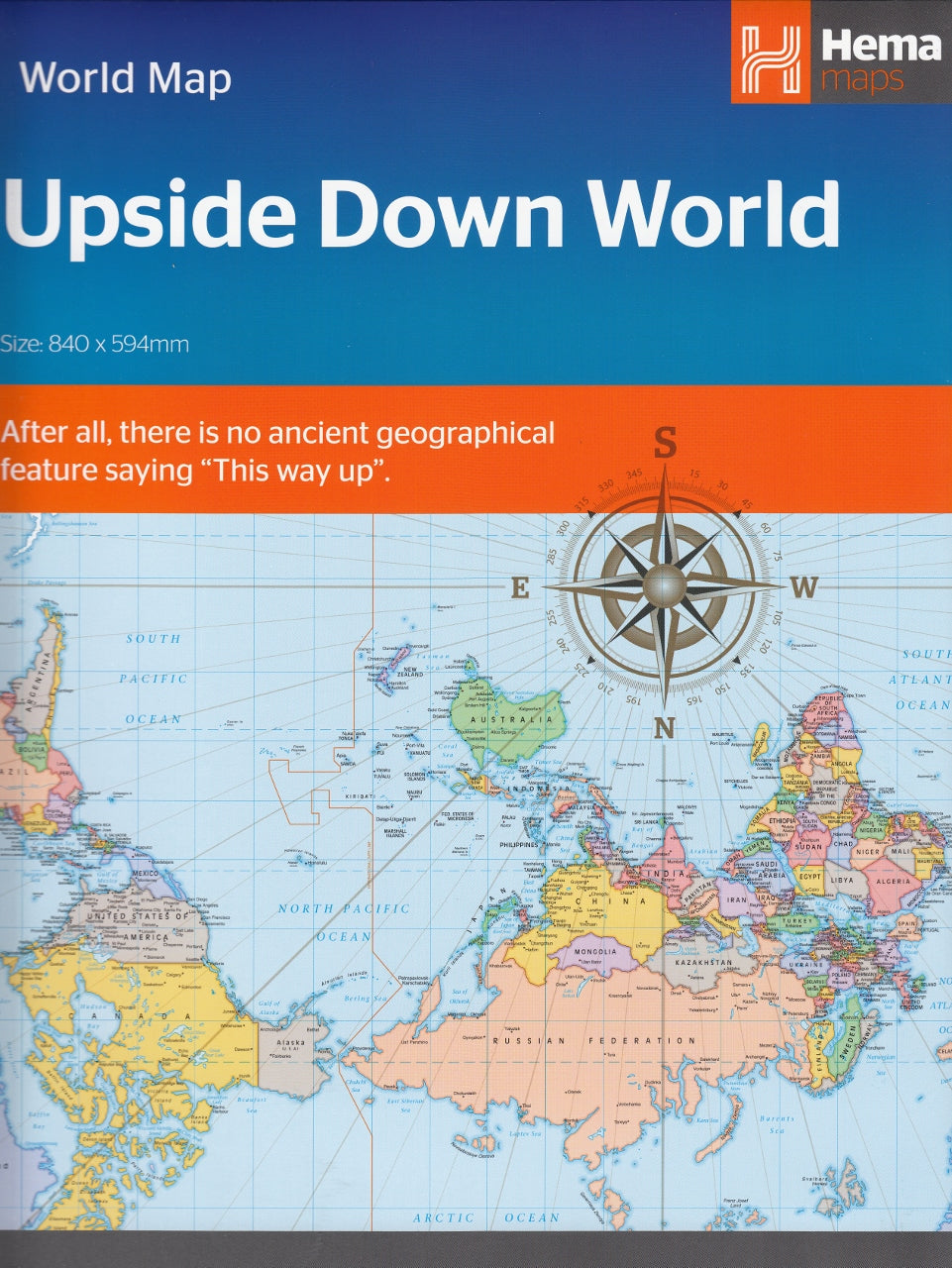 Picture of: Australia Upside Down World Map Buy Upside Down World Wall Map Mapworld