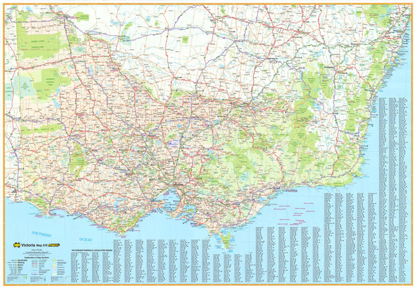 Victoria UBD 370 Map 2000 x 1400mm Laminated Wall Map