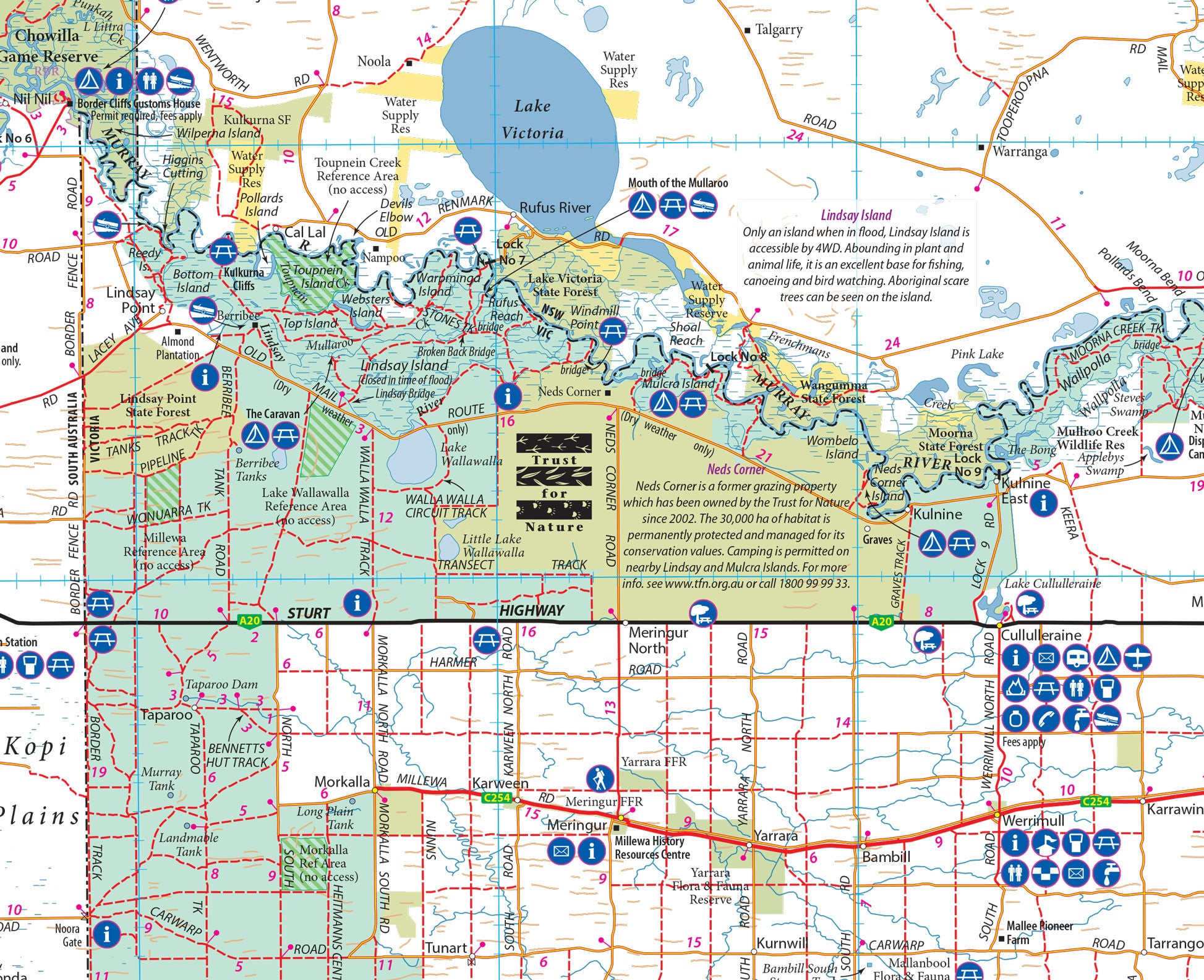 Victorias Deserts 4WD Map buy map of Victorias Deserts Mapworld