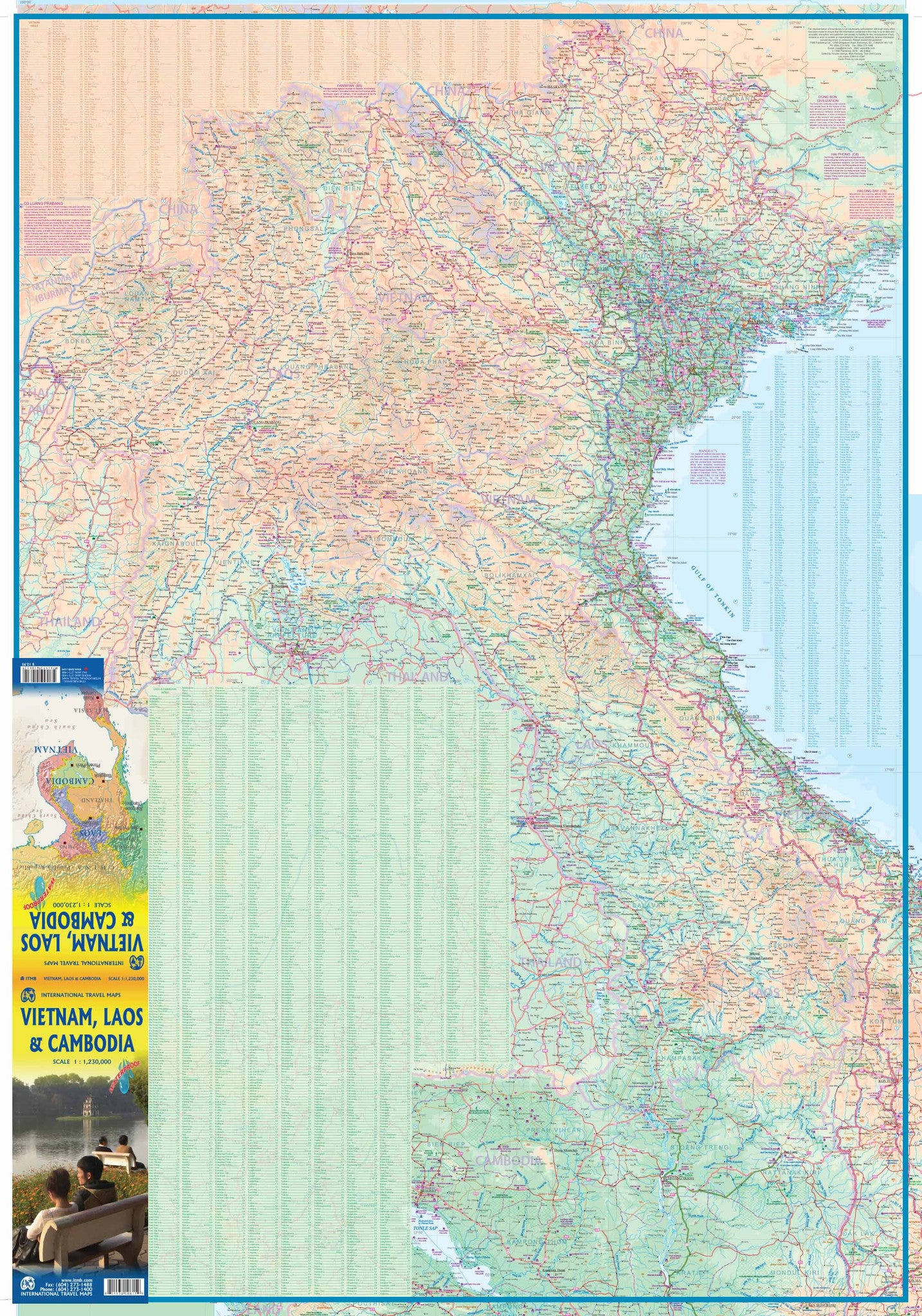 Vietnam Laos Cambodia Itmb Buy Map Of Vietnam Laos Cambodia