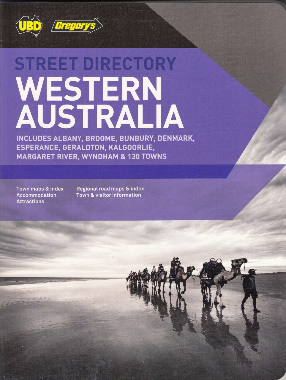 Map Of Western Australia With Cities.Western Australia Street Directory Ubd