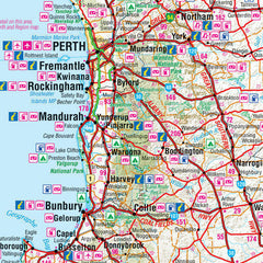 Western Australia Hema 1000 x 1430mm Supermap Laminated Wall Map with Free Map Dots