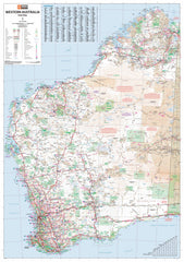 Western Australia Hema 1000 x 1400mm Supermap Laminated Wall Map