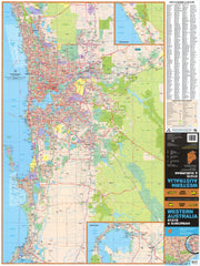 Western Australia UBD map 690 x 1000mm Laminated Wall Map with Hang Rails