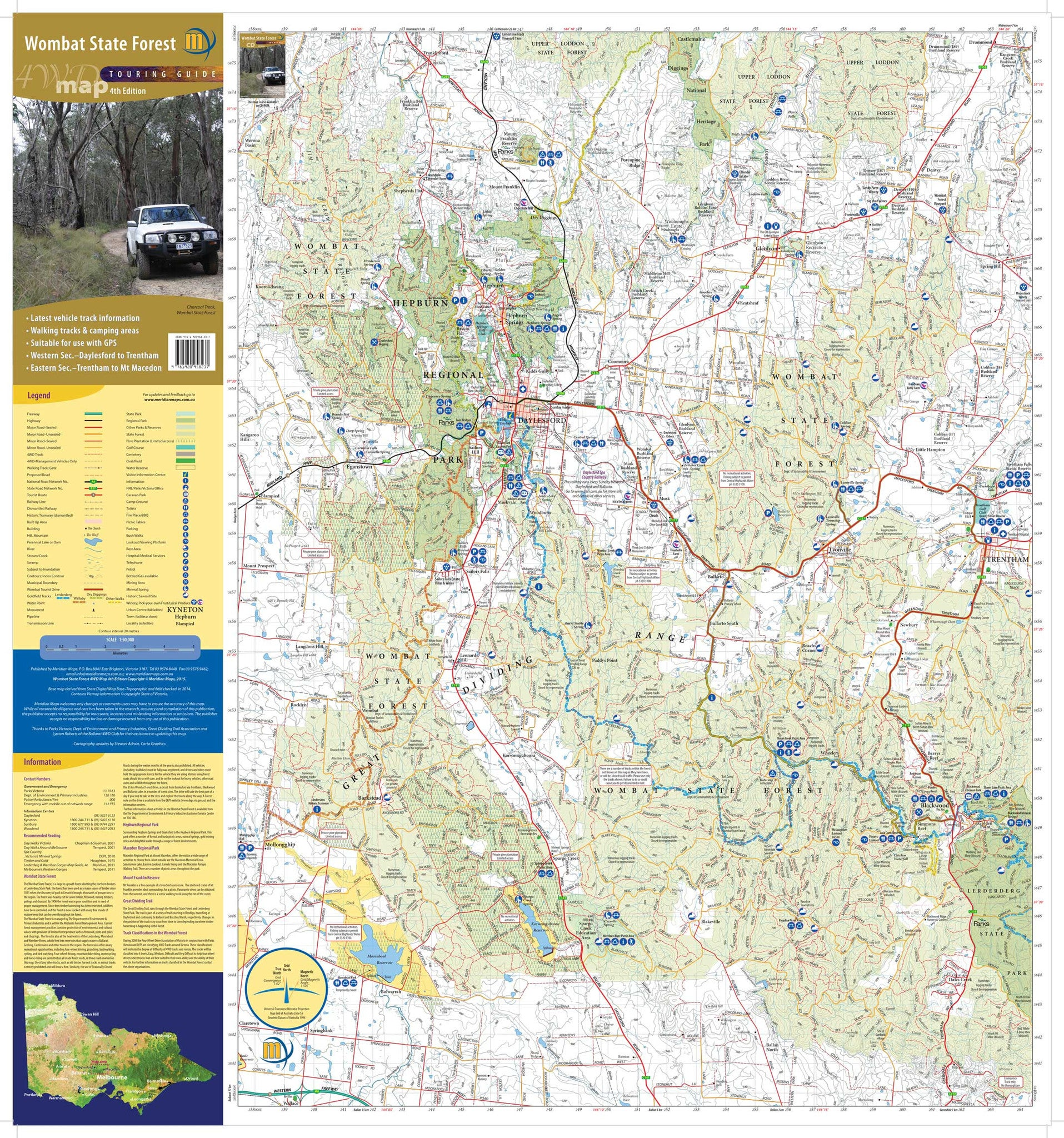 Wombat State Forest map buy map of Wombat State Forrest Mapworld