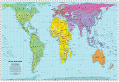 Gall-Peters Equal Area World 930 x 610mm Laminated Wall Map
