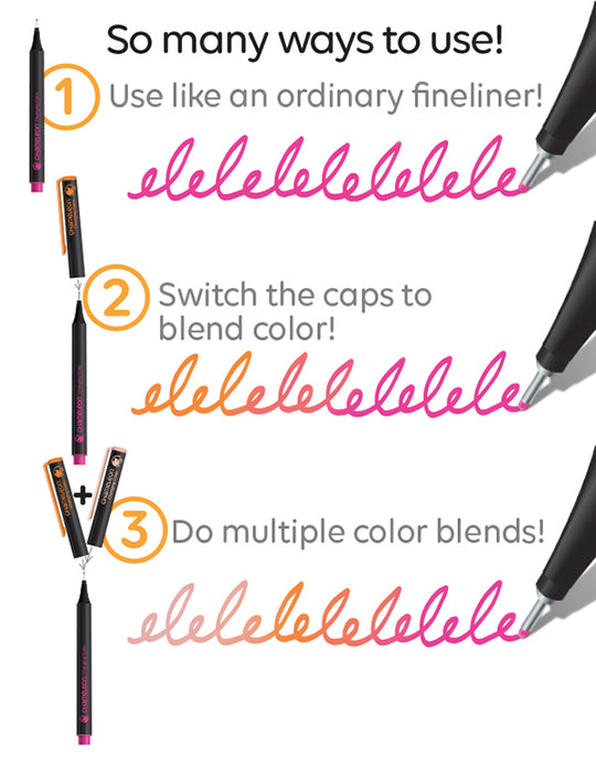 Chameleon fineliners: how to use