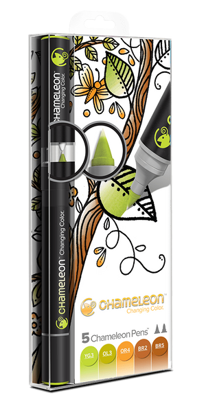 Chameleon 5 Pen Earth Tones Set front packaging