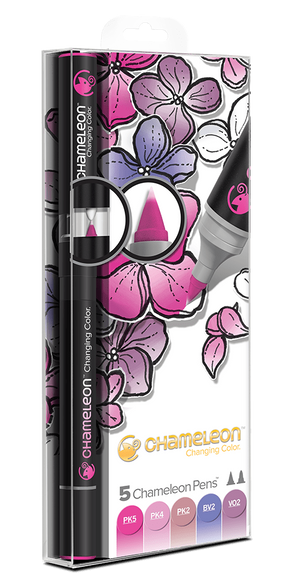 Chameleon 5 Pen Floral Tones Set front packaging
