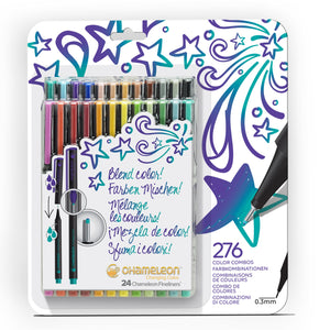 Chameleon Fineliners 24 pack Bold Colors