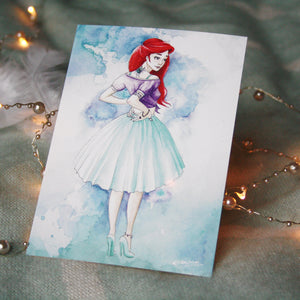 Princess disney Ariel, Postcard