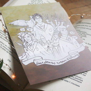 Illustration format A5 Harry Potter