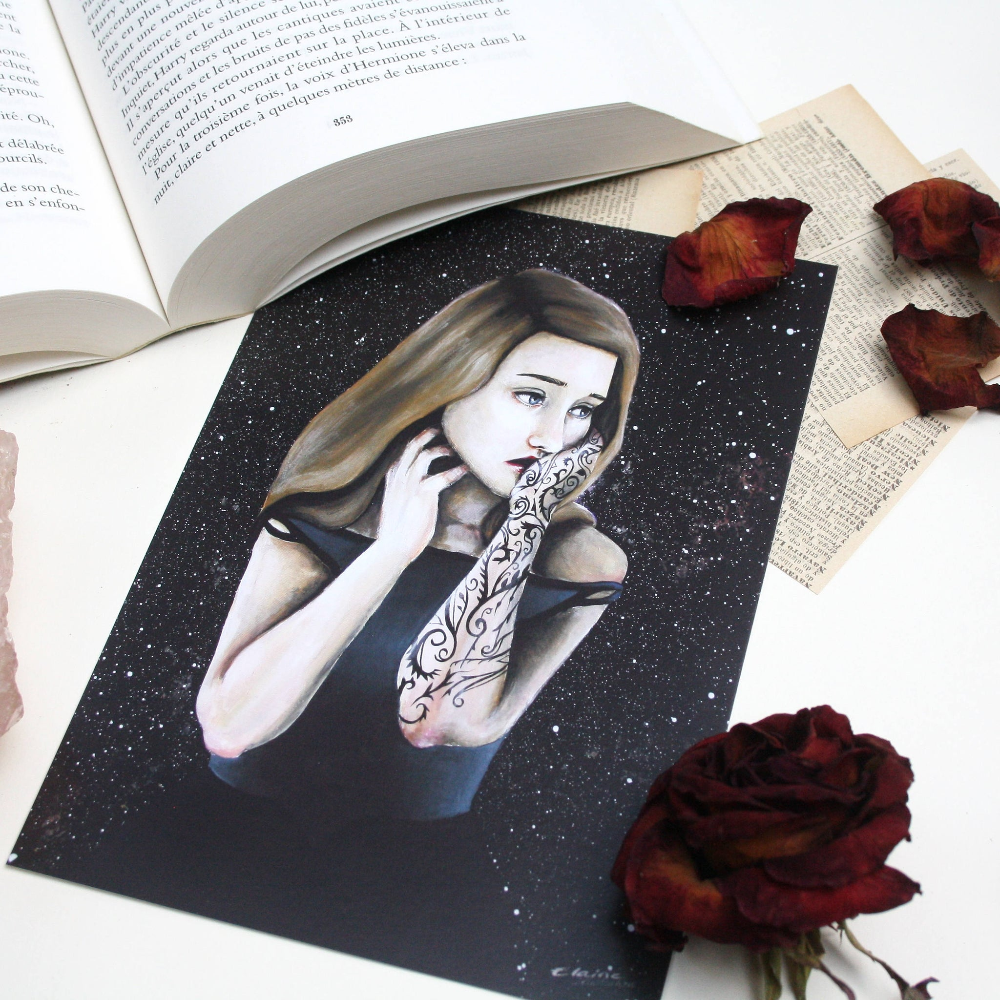 "Illustration format A5 ""Feyre"""