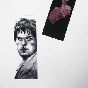 Bookmark Art drawing print, outlander illustration marque page signet jamie fraser claire fraser