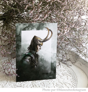 "Illustration carte A6 ""Loki"""
