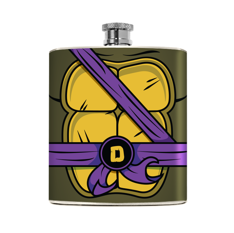 Purple Turtle Flask