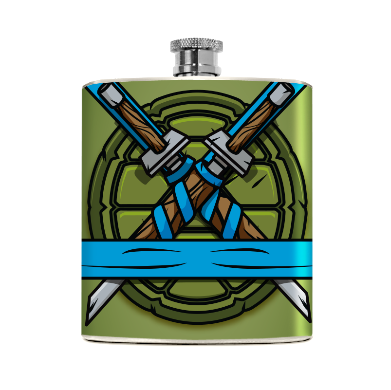 Blue Turtle Flask