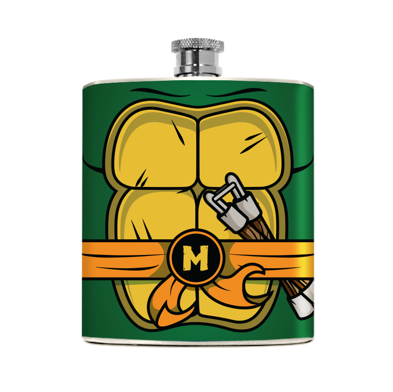 Orange Turtle Flask