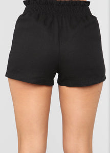 Black shorts w/ buttons