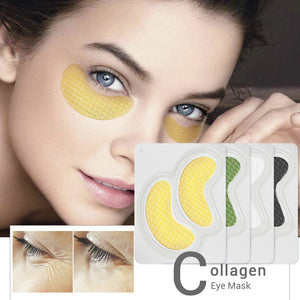 24K Gold Collagen Eye Mask Eye Patches Dark Circle Sleep Mask Eye Bag Anti-Aging Wrinkle Firming Skin Care 10PCS