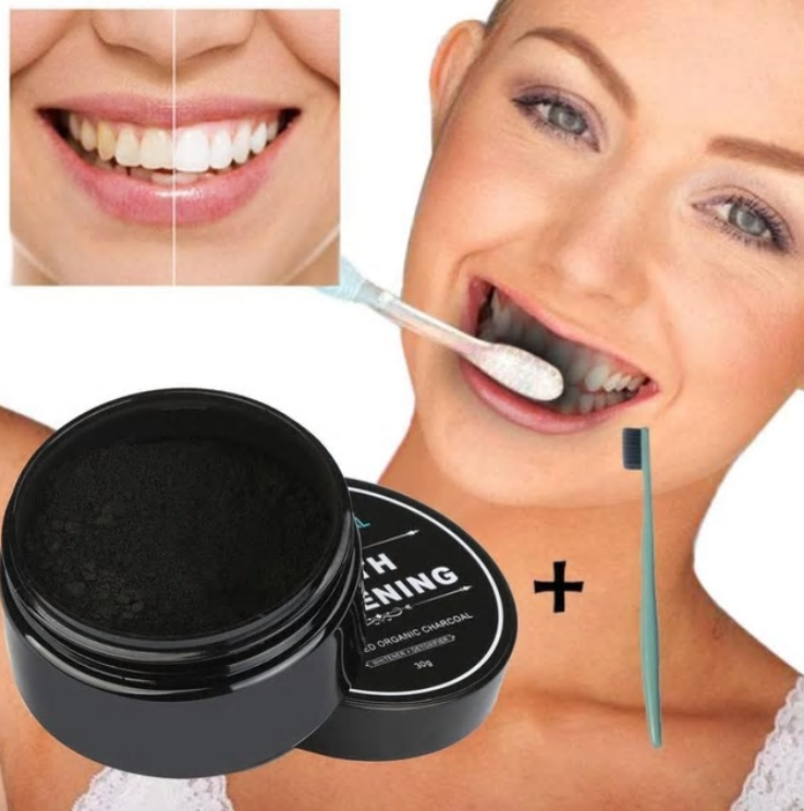 Natural Teeth Whitening Powder Smoke Coffee Tea Stain Remover
