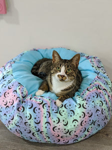 Pastel Stars and Moons Marshmallow Pet Bed