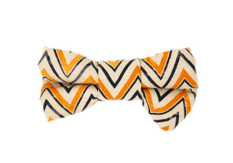 Fall Zig Zag Bow Tie -Halloween
