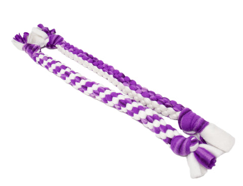 Light Purple Fleece Rope Toy- Small